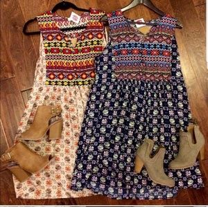 New boho navy dress